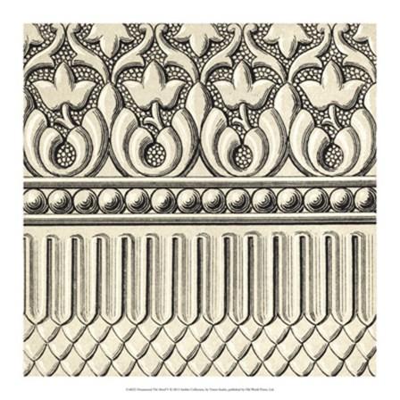 Ornamental Tile Motif V by Vision Studio art print
