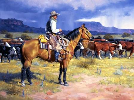 Great American Cowboy by Jack Sorenson art print