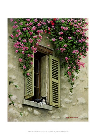 Le Chat by Michael Swanson art print