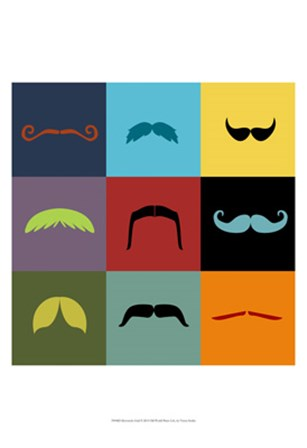 Moustache Grid by Vision Studio art print