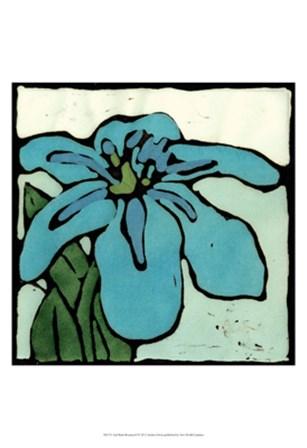 Teal Batik Botanical I by Andrea Davis art print