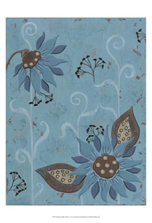 Whimsical Blue Floral I by Jade Reynolds art print
