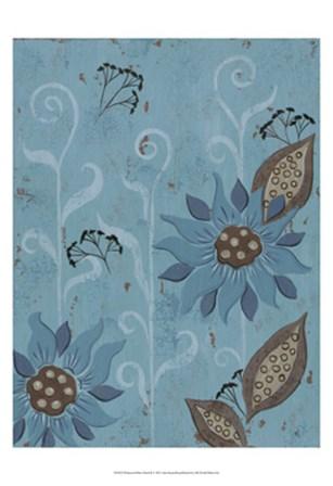 Whimsical Blue Floral II by Jade Reynolds art print