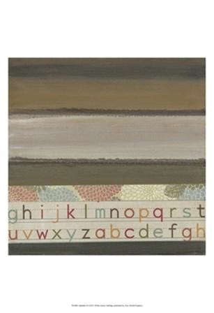 Alphabet II by W Green-Aldridge art print