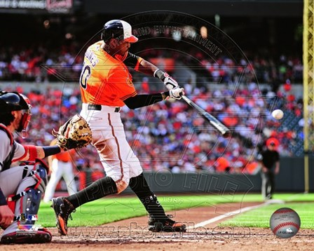 Adam Jones Batting 2013 Action art print