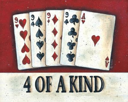 Four of a Kind by Donna Atkins art print