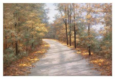 Walking in Fall by Diane Romanello art print