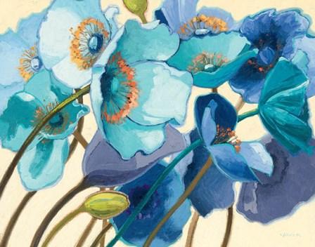 Le Pavots Bleu by Shirley Novak art print