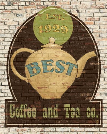 Best Coffee and Tea by Avery Tillmon art print
