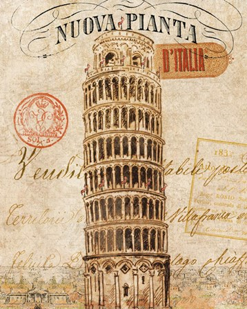 Letter from Pisa by Wild Apple Portfolio art print