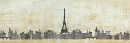 Eiffel Skyline by Avery Tillmon art print