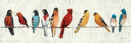 The Usual Suspects - Birds on a Wire by Avery Tillmon art print