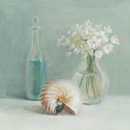 White Flower Spa by Danhui Nai art print