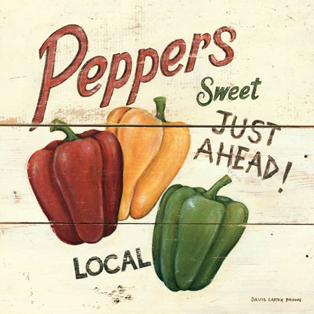 Sweet Peppers by David Carter Brown art print