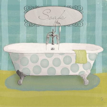 Polka Tub II by Sarah Adams art print