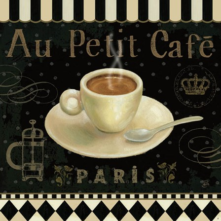 Cafe Parisien II by Daphne Brissonnet art print