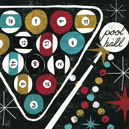 Vegas - Pool Hall by Michael Mullan art print