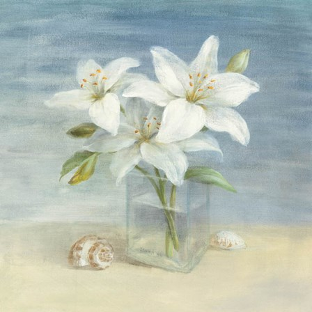 Lilies and Shells by Danhui Nai art print