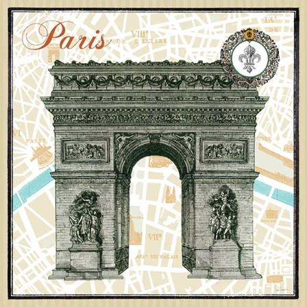 Monuments des Paris Arc by Sue Schlabach art print