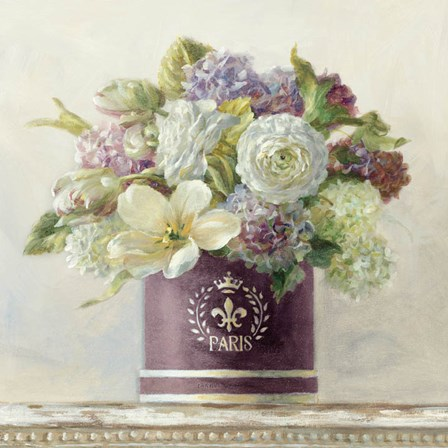 Tulips in Aubergine Hatbox by Danhui Nai art print
