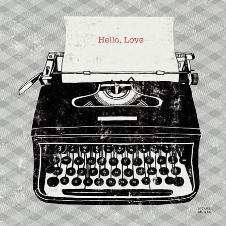 Vintage Analog Typewriter by Michael Mullan art print
