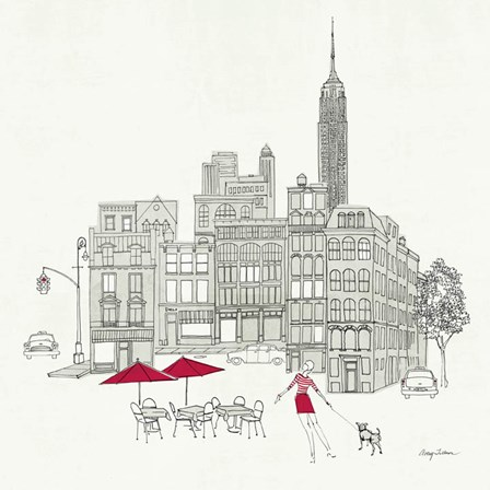 World Cafe III - NYC Red by Avery Tillmon art print