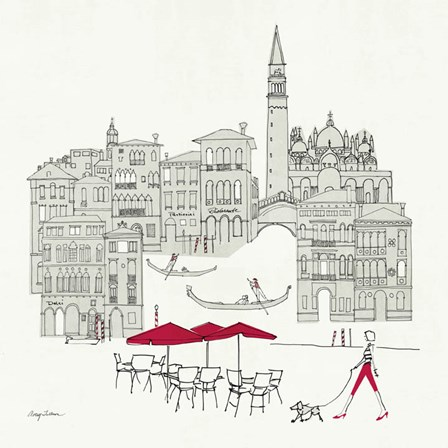 World Cafel IV - Venice Red by Avery Tillmon art print