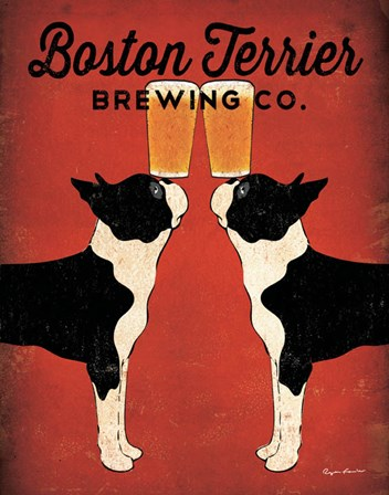 Boston Terrier Brewing Co. by Ryan Fowler art print