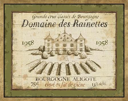 French Wine Label III by Daphne Brissonnet art print