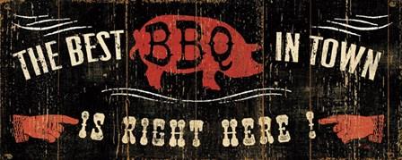 The Best BBQ in Town by Pela Studio art print