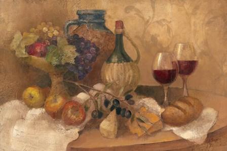 Abundant Table with Pattern by Albena Hristova art print