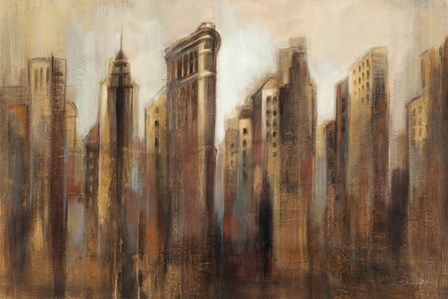 Flatiron Skyline by Silvia Vassileva art print