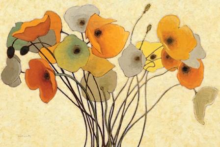 Pumpkin Poppies I by Shirley Novak art print
