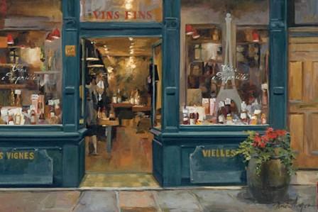 Parisian Wine Shop by Marilyn Hageman art print