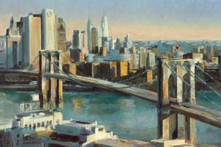 Into Manhattan by Marilyn Hageman art print