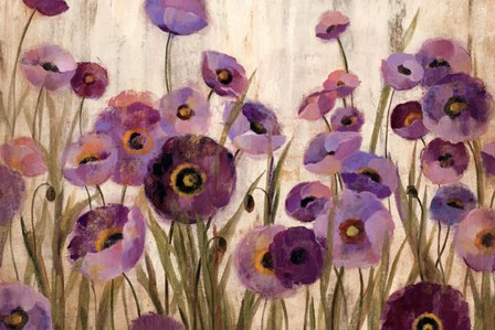 Pink and Purple Flowers by Silvia Vassileva art print