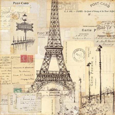 Paris Collage II by Pela Studio art print