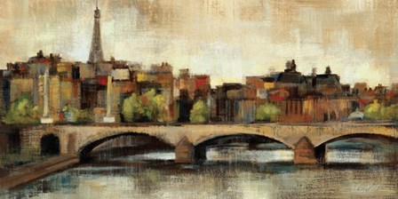 Paris Bridge I Spice by Silvia Vassileva art print