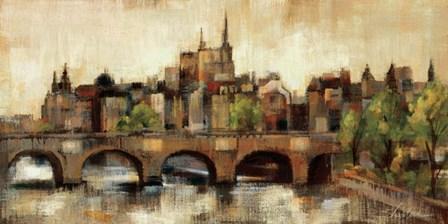 Paris Bridge II Spice by Silvia Vassileva art print