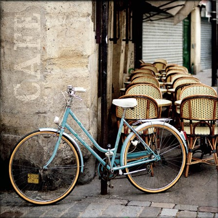 Cafe Bicycle by Marc Olivier art print