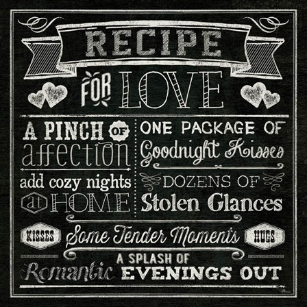 Thoughtful Recipes III by Pela Studio art print