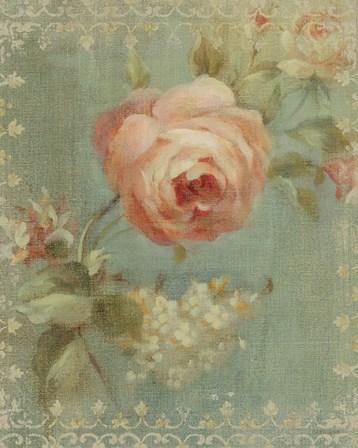 Rose on Sage by Danhui Nai art print