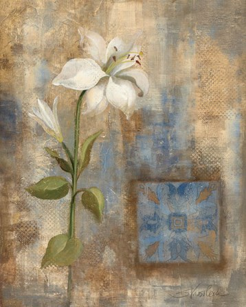 Lily and Tile by Silvia Vassileva art print