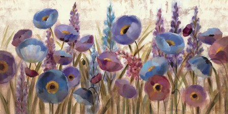 Lupines and Poppies by Silvia Vassileva art print