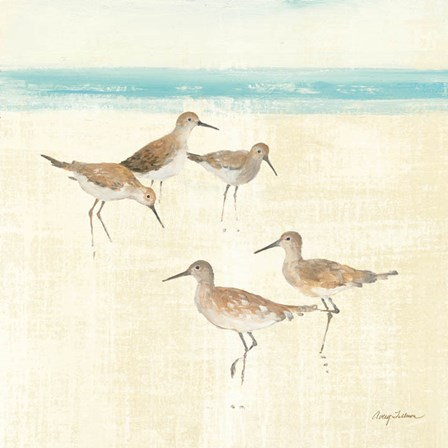 Sand Pipers Square I by Avery Tillmon art print