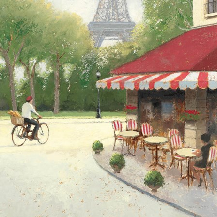 Cafe du Matin III by James Wiens art print