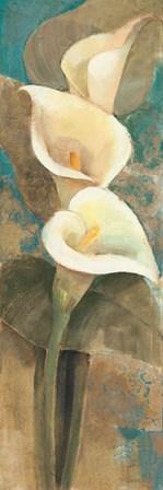 Calla Lily Trio Panel by Albena Hristova art print