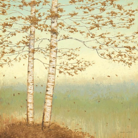 Golden Birch I with Blue Sky by James Wiens art print