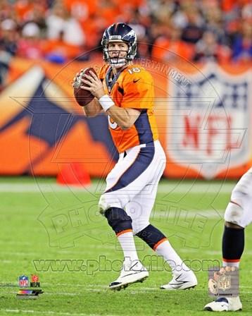 Peyton Manning Football Passing art print