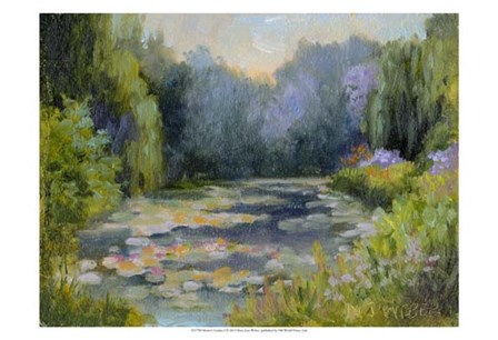 Monet's Garden I by Mary Jean Weber art print